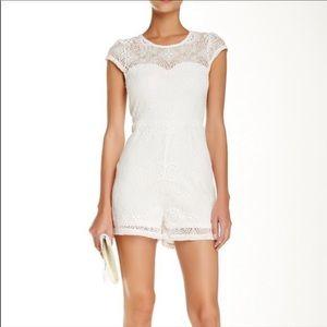 Elodie white lace romper